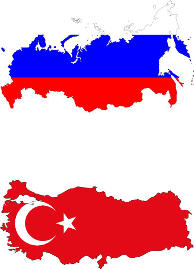 Turkey Russia flag